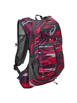 Рюкзак LIGHTWEIGHT RUNNING BACKPACK ASICS. Цвет: серый, розовый