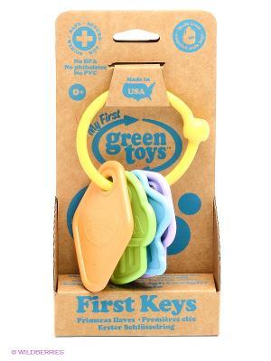 Прорезыватель-погремушка Ключики Green Toys. Цвет: желтый, оранжевый, фиолетовый