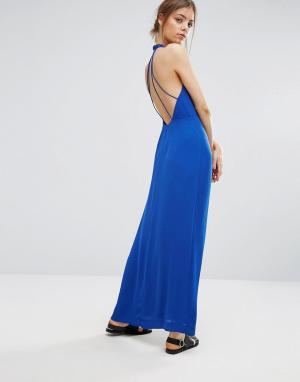 Samsøe & Длинное платье Samsoe Hannah. Цвет: синий