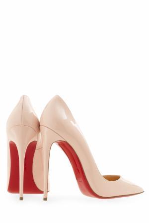 Кожаные туфли So Kate 120 Christian Louboutin. Цвет: розовый
