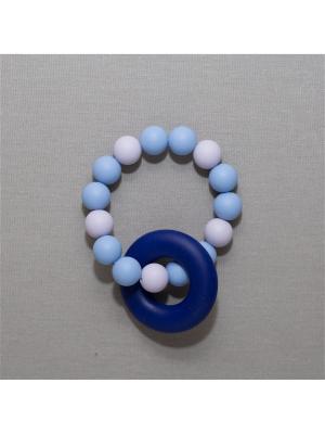 Браслет Краски лета. Цвет: темно-синий, серо-голубой, серый меланж