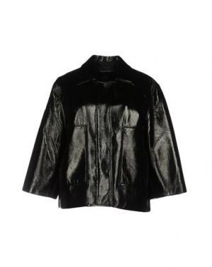 Легкое пальто JONATHAN SAUNDERS. Цвет: черный