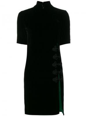 Платье мини с разрезом Beau Souci. Цвет: чёрный