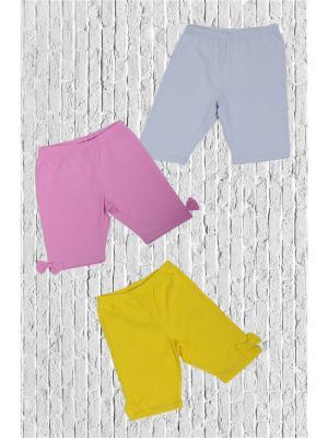 Шорты ZEBRA KIDS. Цвет: серый, желтый, розовый