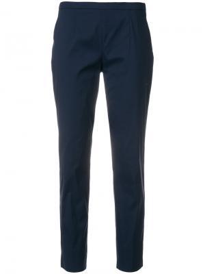 Строгие укороченные брюки Prada. Цвет: синий