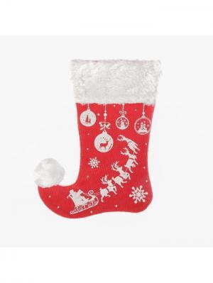 Носок для подарков Новогодняя ярмарка. Цвет: красный, белый
