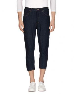 Джинсовые брюки YOSHIO KUBO. Цвет: синий