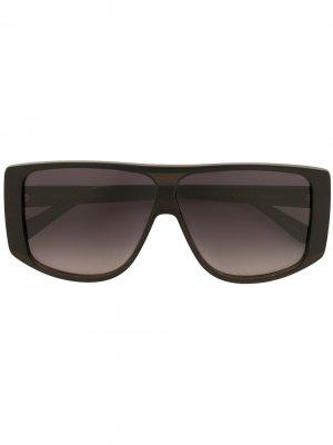 Солнцезащитные очки с затемненными линзами Karen Walker. Цвет: черный