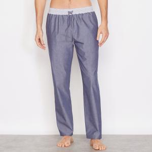 Брюки пижамные, 100% хлопка LA REDOUTE COLLECTIONS. Цвет: синий шамбре