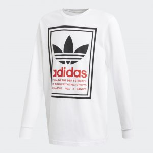 Лонгслив Originals adidas. Цвет: белый