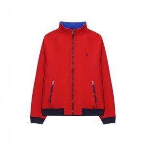Хлопковая куртка Polo Ralph Lauren. Цвет: красный