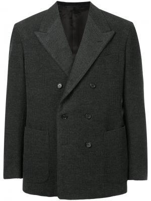 Двубортный пиджак United Arrows. Цвет: серый