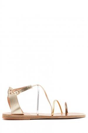 Золотистые сандалии Meloivia Ancient Greek Sandals. Цвет: золотой