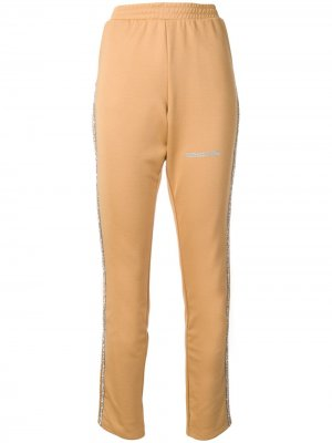 Спортивные брюки с блестящими лампасами Each X Other. Цвет: нейтральные цвета