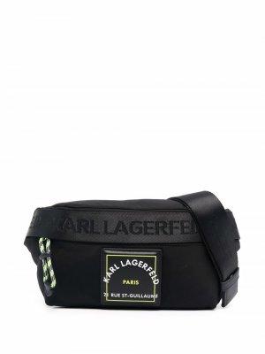 Logo zipped belt bag Karl Lagerfeld. Цвет: черный