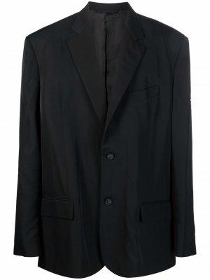 Пиджак с нашивкой-логотипом Balenciaga. Цвет: черный