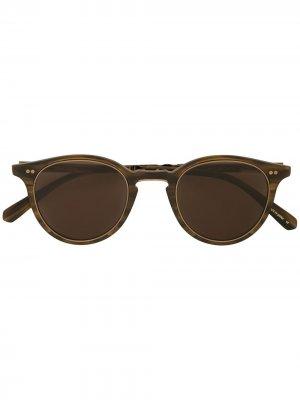 Солнцезащитные очки Marmont в круглой оправе Garrett Leight. Цвет: коричневый