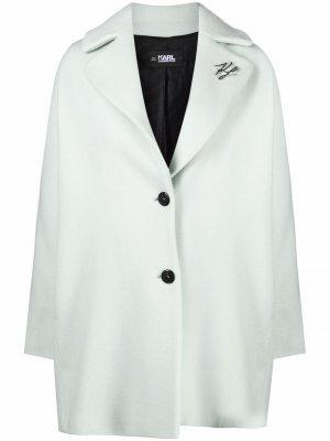 Пальто со складками Karl Lagerfeld. Цвет: зеленый