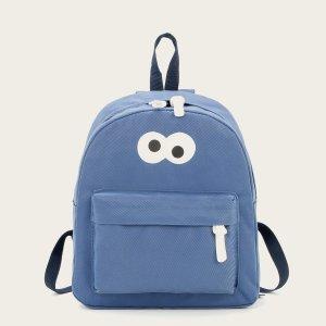 Рюкзак для мальчиков с мультипликационным рисунком SHEIN. Цвет: синий