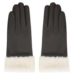 Перчатки Ekonika EN33071-chocolate-white-21Z. Цвет: коричневый/белый