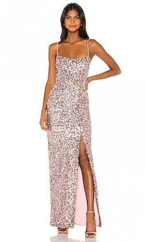 Вечернее платье confetti Nookie. Цвет: розовый