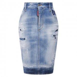 Джинсовая юбка Dsquared2. Цвет: синий