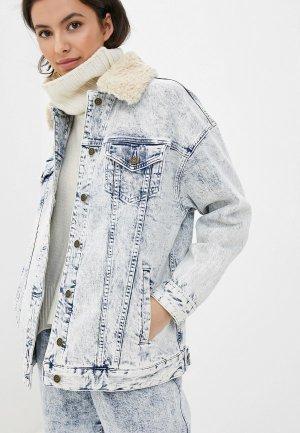 Куртка джинсовая Michael Kors. Цвет: голубой