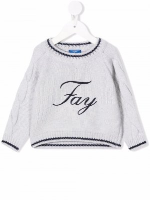 Grey logo jumper Fay Kids. Цвет: серый