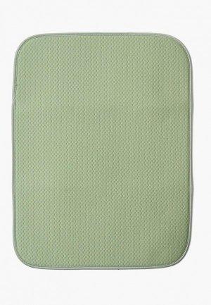 Салфетка сервировочная DeNastia Коврик для сушки посуды DeНАСТИЯ, 38*51 см. Цвет: зеленый