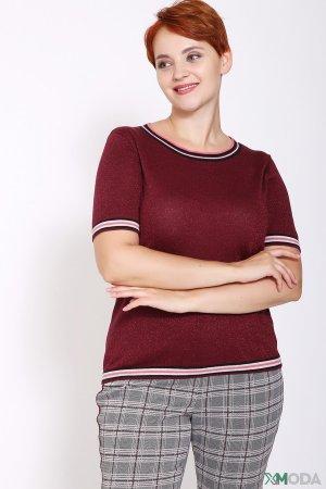 Пуловер Bianca. Цвет: бордовый