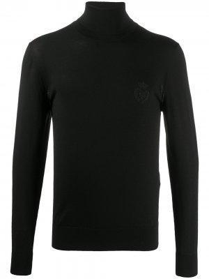 Водолазка с вышивкой Dolce & Gabbana. Цвет: черный