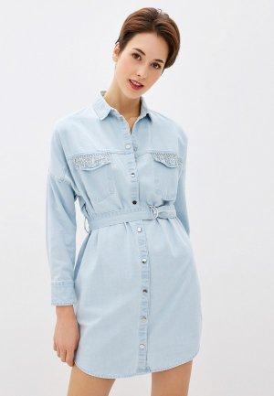 Платье джинсовое Guess Jeans. Цвет: голубой