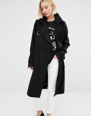 Шерстяное пальто Cheap Monday. Цвет: черный