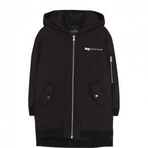 Удлиненная куртка на молнии с капюшоном Designers, Remix girls. Цвет: чёрный