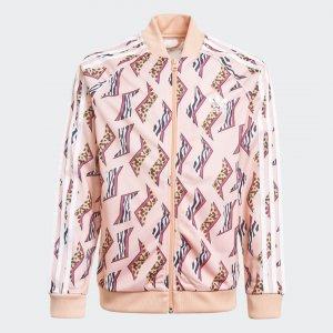 Олимпийка Allover Print SST Originals adidas. Цвет: белый
