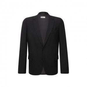 Шерстяной пиджак Dries Van Noten. Цвет: серый