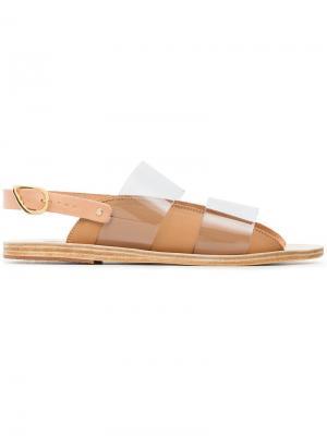 Сандалии с прозрачной панелью Ancient Greek Sandals. Цвет: бежевый