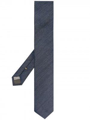 Жаккардовый галстук Canali. Цвет: синий
