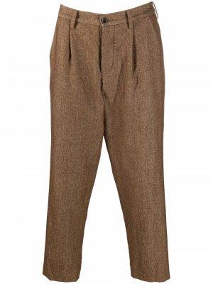 Укороченные брюки чинос Uma Wang. Цвет: коричневый