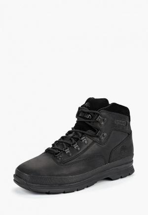 Ботинки Timberland EURO HIKER SF LEATHE BLACK. Цвет: черный