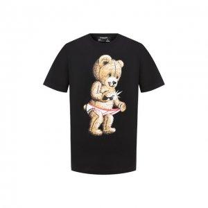 Хлопковая футболка Dom Rebel. Цвет: чёрный