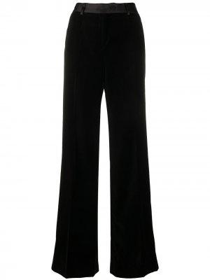 Расклешенные брюки с атласным поясом Paul Smith. Цвет: черный