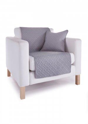 Накидка на диван bonprix. Цвет: серый