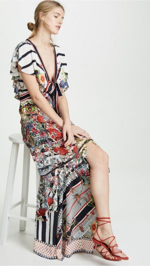 Tie Front Maxi Dress Camilla