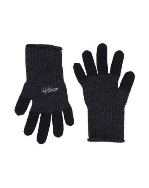 Перчатки YOHJI YAMAMOTO POUR HOMME. Цвет: стальной серый