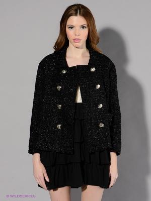 Пальто Maison espin. Цвет: черный, серебристый
