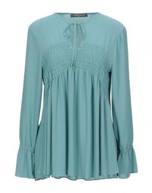 Блузка SANDRO FERRONE. Цвет: бирюзовый