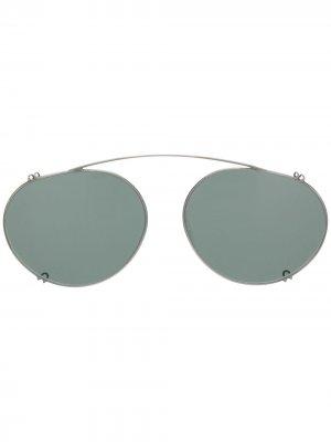 Солнцезащитная накладка на очки Lunor. Цвет: серебристый
