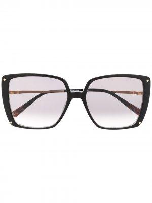 Массивные солнцезащитные очки Missoni. Цвет: черный