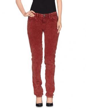 Повседневные брюки DEPT DENIM DEPARTMENT. Цвет: кирпично-красный